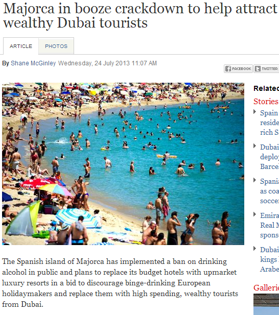 spain island cracks down on booze to attract wealthy muslims from dubai 24.7.2013