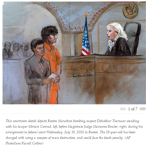 tsarnaev pleads not guilty 11.7.2013