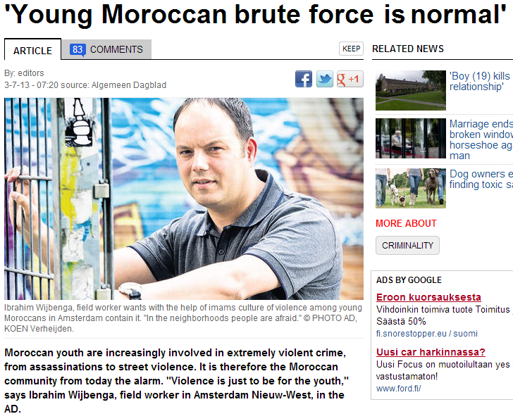 violence among moroccan youth normal 4.7.2013