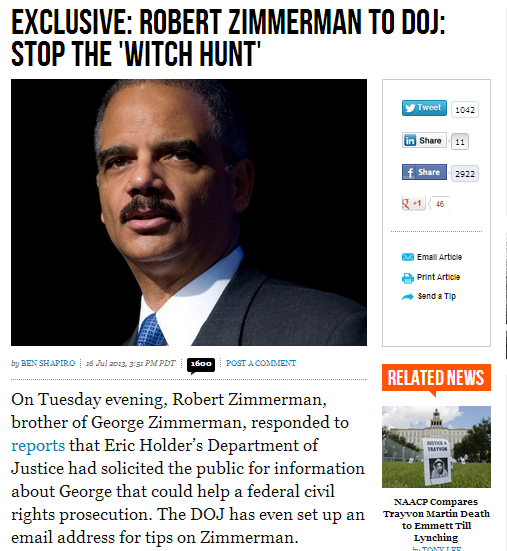 zimmerman stop the witch hunt 17.7.2013