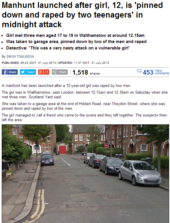 12 year old raped by multi ethnic youths 1.8.2013