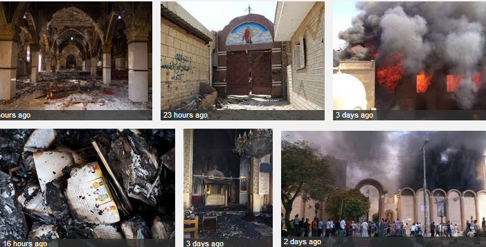 COPTIC CHURCHES BURNT 20.8.2013