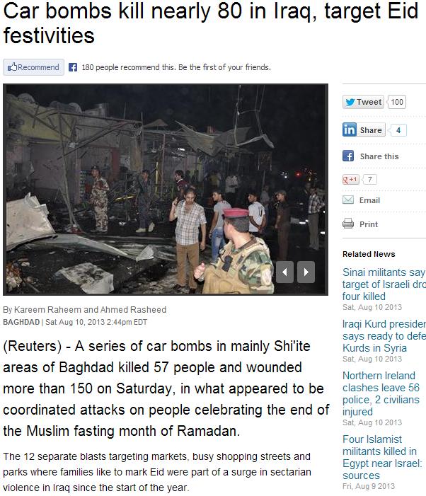 IRAQ CAR BOMBING KILLS 80 11.8.2013