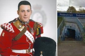 SOLDIER ATTACKED BY GANG SHOUTING LEE RIGBY