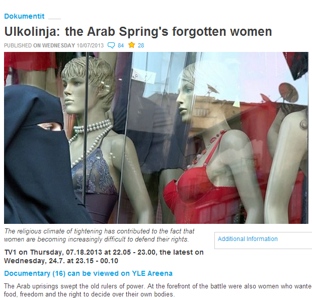 YLE CENCORS ITSELF ON ARAB UPRISING CALLED ARAB SPRING 1.8.2013
