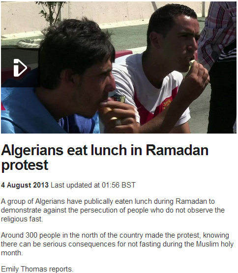 algerians protest ramadan eat lunch 4.8.2013