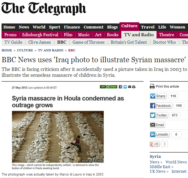 bbc manipulated syrian wmd murders with iraq photo 28.8.2013