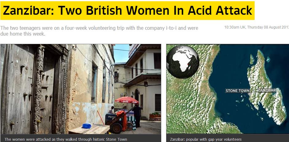 brit teens attacked with acid in zanzibar 8.8.2013