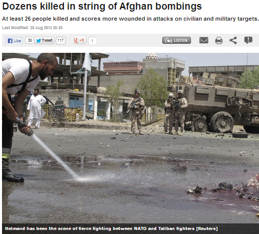 dozens killed in afghan bombings 29.9.2013