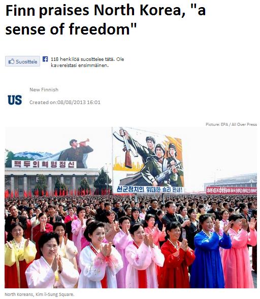 finn praises n.korea