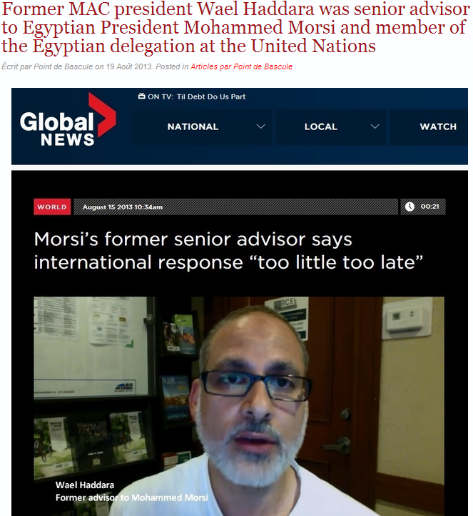 former head of high profile muslim org was senior advisor to mb mo morsi 20.8.2013