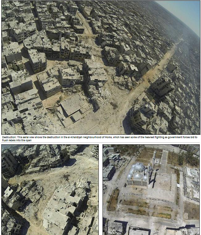 horrifying wasteland of homs syria 1.8.2013