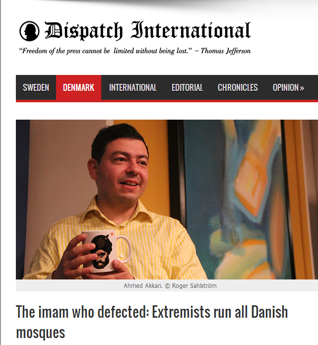 imam who defected-all danish mosques run by extremists 23.8.2013