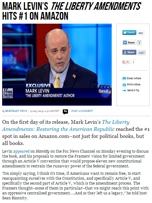 mark levin book no.1 on amazon for all books 13.8.2013