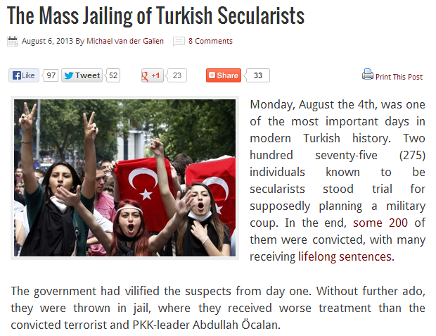mass jailing of turkish secularists 7.8.2013