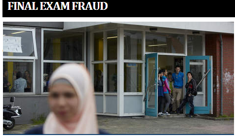 muslim dutch school exam fraud 27.8.2013