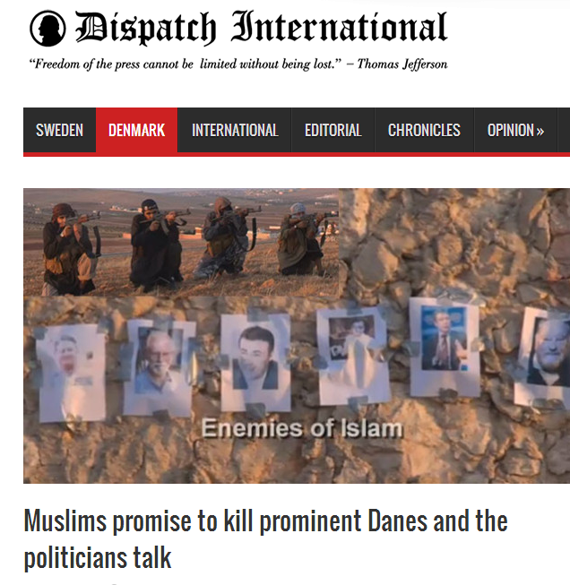 muslims promising to kill prominent danes 27.8.2013