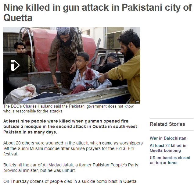 nine killed in pakistan 9.8.2013