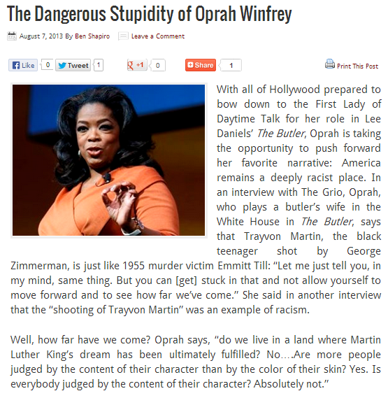 oprahs ignorance and race baiting narrative 7.8.2013