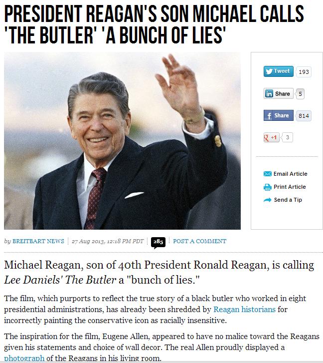 reagan's son calls the butler a bunch of lies 28.8.2013
