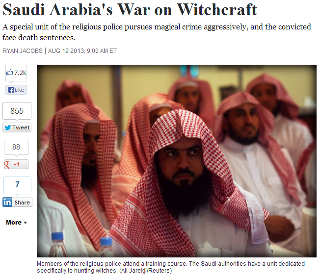 saudi war on witchcraft 22.8.2013