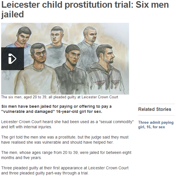 six men jailed in child rape case 31.8.2013