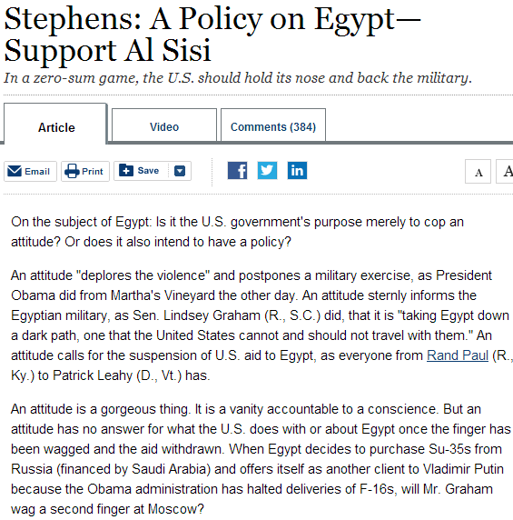 stephens on al-sisi 22.8.2013