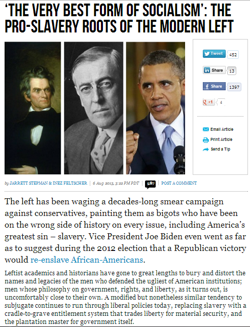 the pro slavery roots of the modern democrat Left 7.8.2013