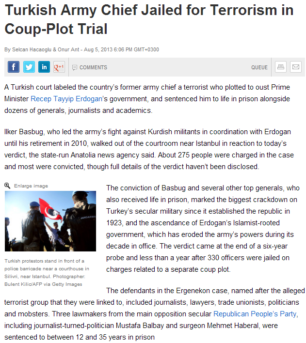 turk generals convicted of attempted coup 6.8.2013