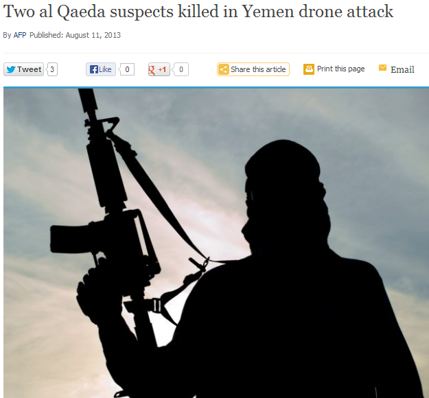 two al qaida terrorists droned in yemen 11.8.2013