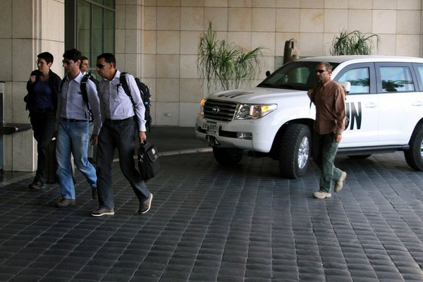 UN chemical weapons team arrives in Syria