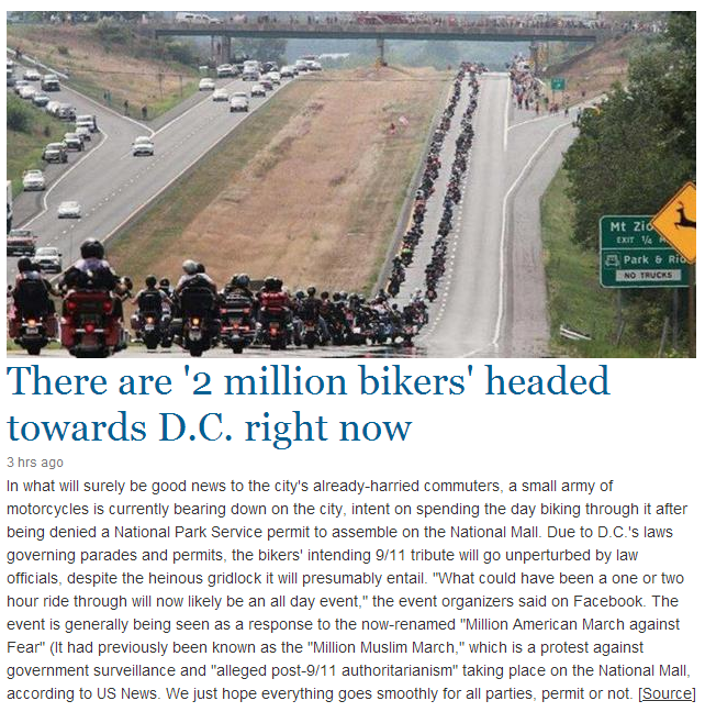 2 mill bikers heading to dc 11.9.2013