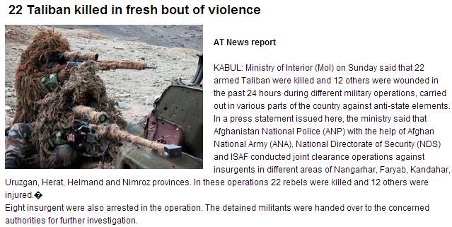 27 taliban dead 30.9.2013