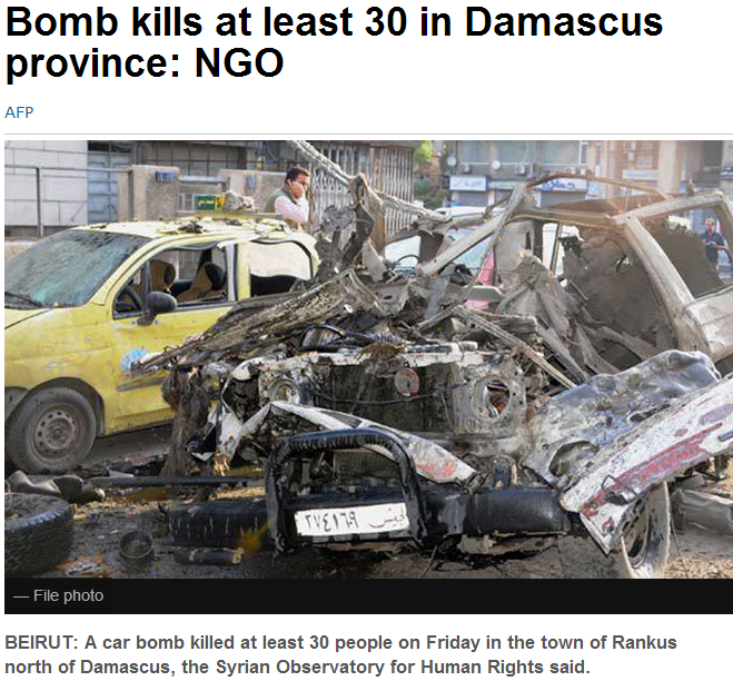 30 killed in dmasacus province 29.9.2013