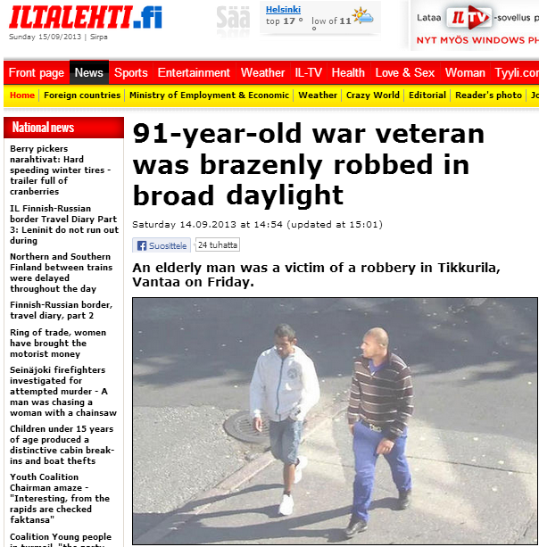 91 year old war vet brazenly robbed in broad daylight 15.9.2013