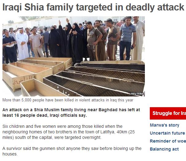 IRAQI SHIIA FAMILY MURDERED 8.9.2013
