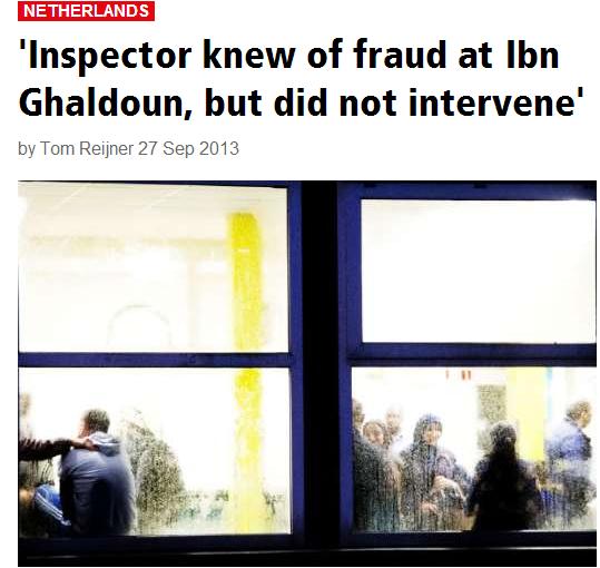 Inspector knew of fraud at ibn ghaldoun school but didn't intervene 27.9.2013