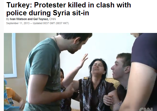 TURKEY KILLS PROTESTER 11.9.2013