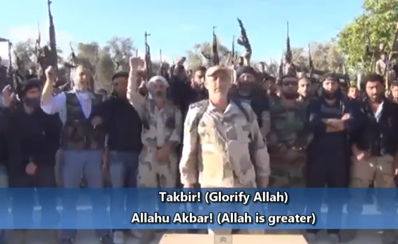 all syrian rebels united under takfir allahu akbar
