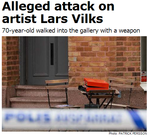 alleged attack on Lars Vilks 4.9.2013