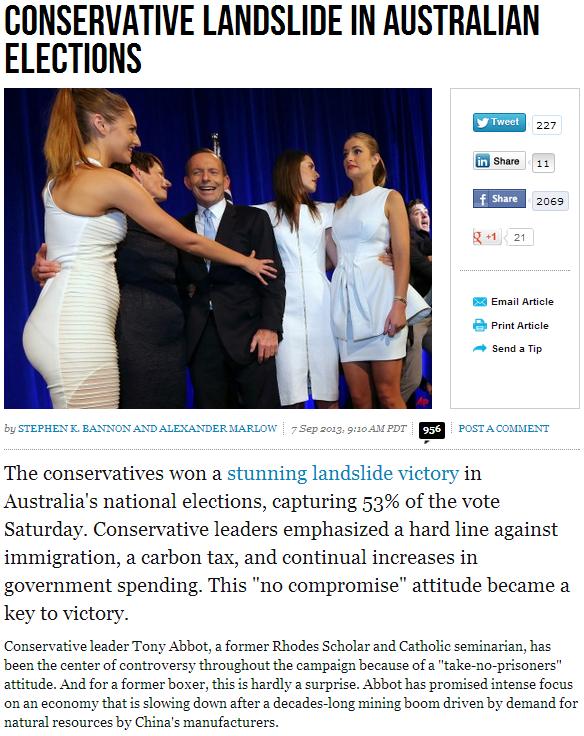 conservative landslide down under 8.9.2013
