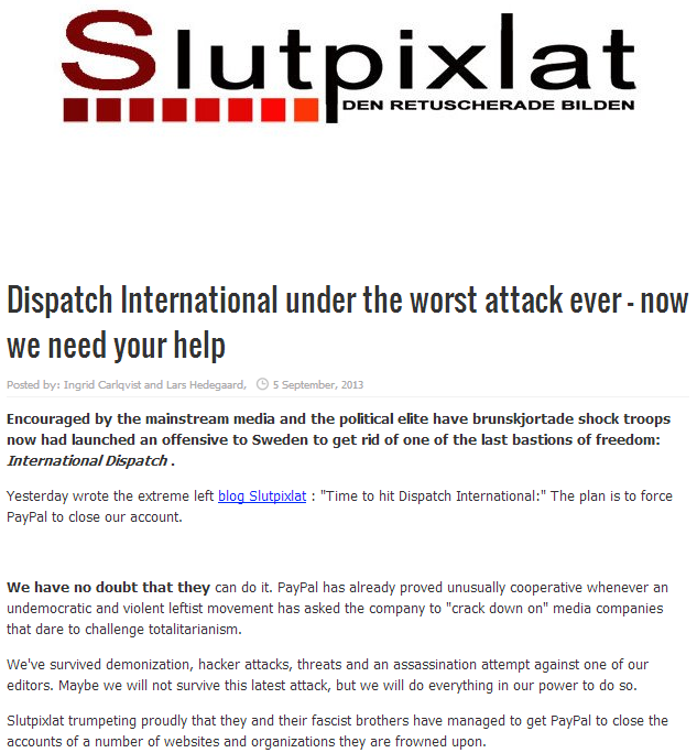 d-international under attack by far left site 5.9.2013