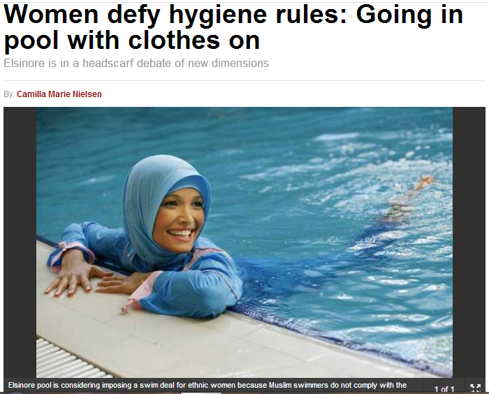 denmark muslims wear clothes swimming 14.9.2013
