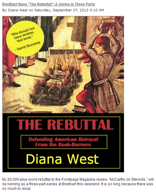 diana west the rebuttal 7.9.2013