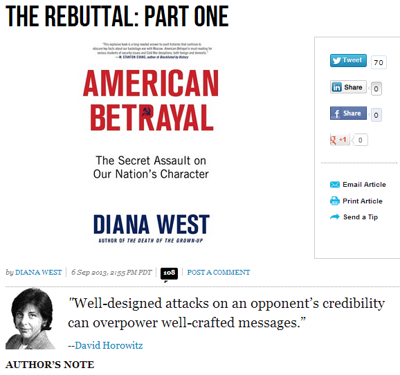 diana west- the rebuttal part 1 7.9.2013