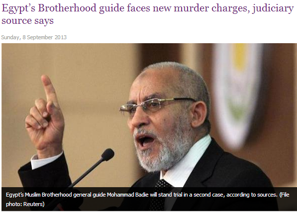 egypts brotherhood leader faces new charges 8.9.2013