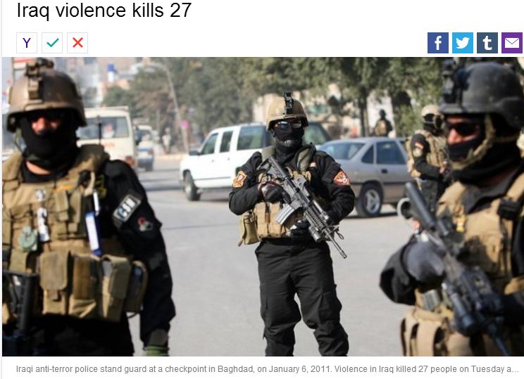 iraq violence kills 7 25.9.2013