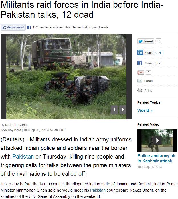 jihadis in indian uniforms murder police 27.9.2013