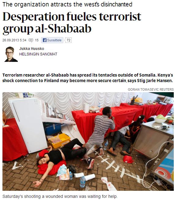 jukka huusko and his expert on nairobi mass murders 26.9.2013
