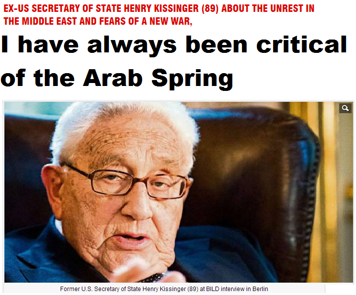 kissinger interview in bild -i have been always critical of